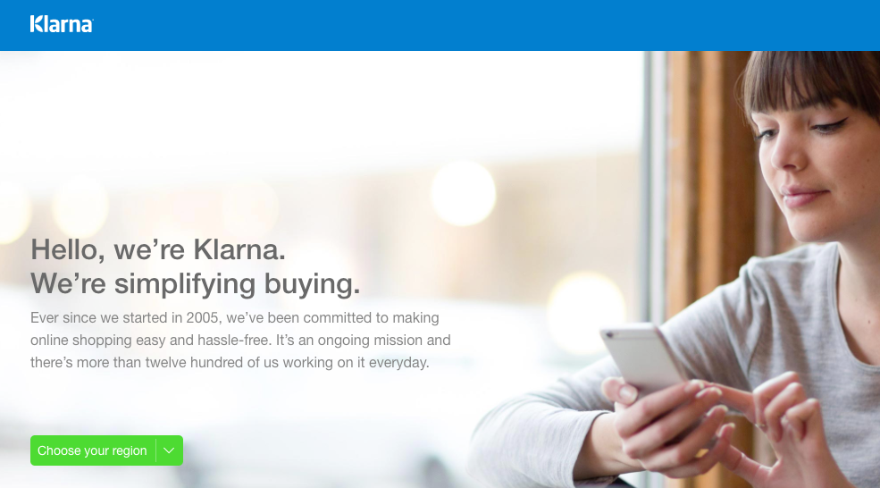 Creating a Klarna account