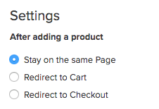 Online Store Buy Link Settings