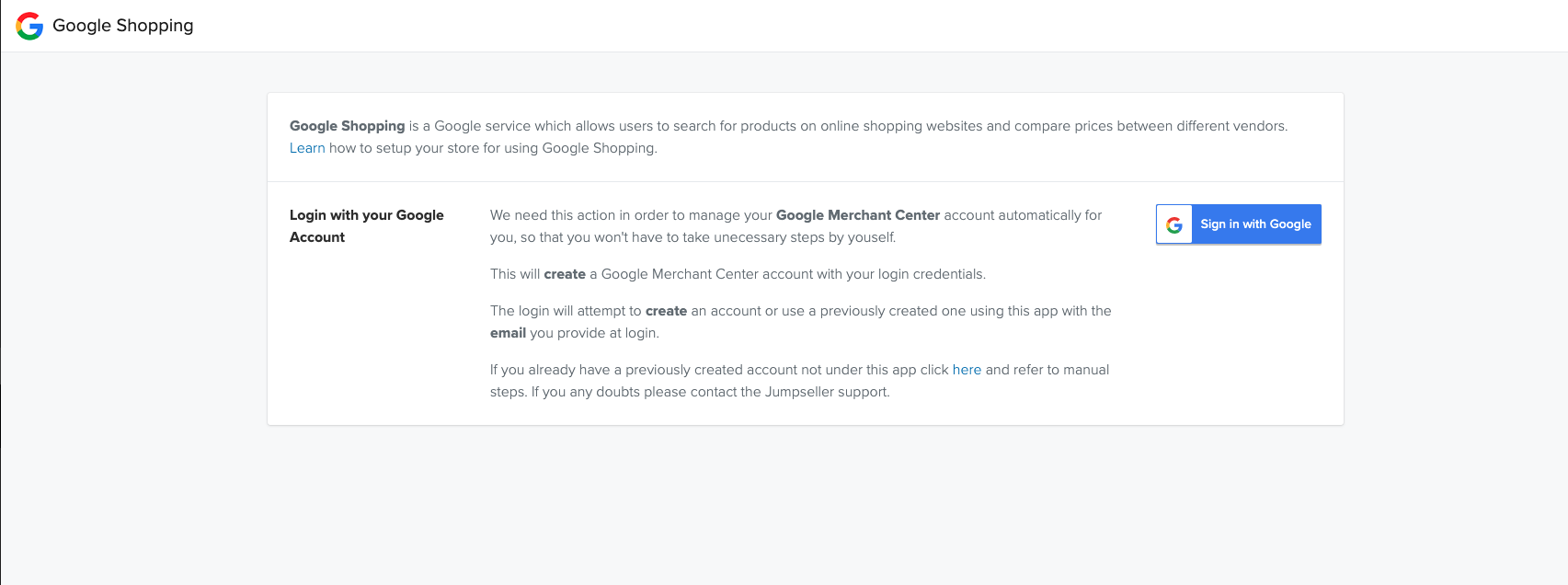 Install Google Shopping
