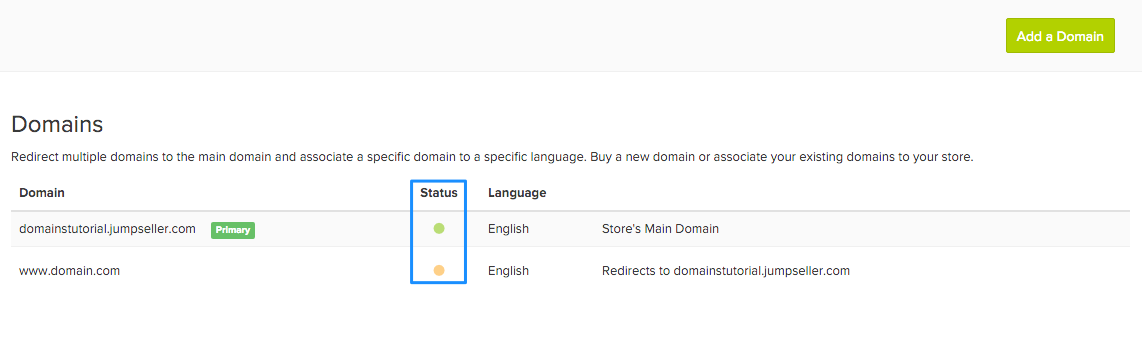 Domains Interface